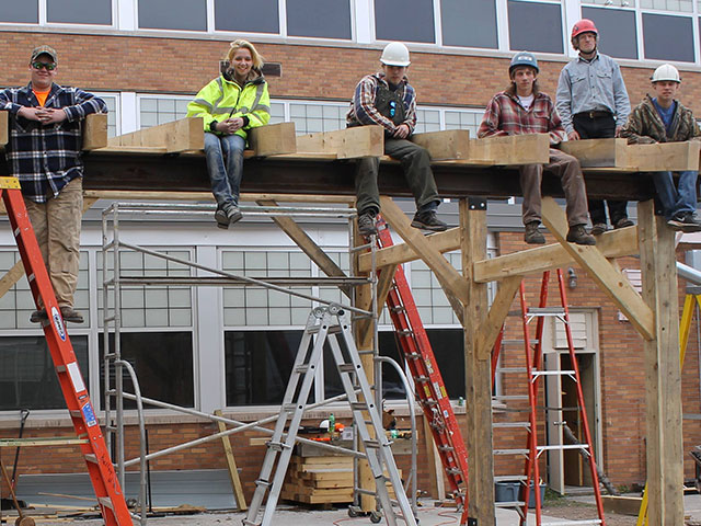 William Kelly High School Timber Frame Project